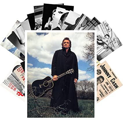 Amazon com: Postcard Set 24 cards JOHNNY CASH Country Folk Rock