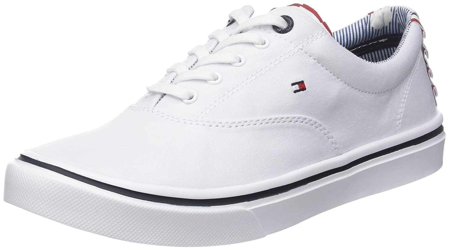 Tommy Hilfiger Textile Light Weight Sneaker, Zapatillas para Mujer 41 EU Blanco (White 100)