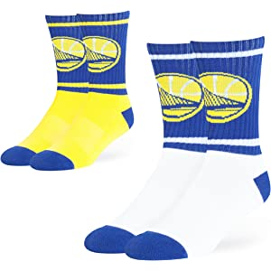nba golden state warriors ots dasher sport sock 2 pack team color