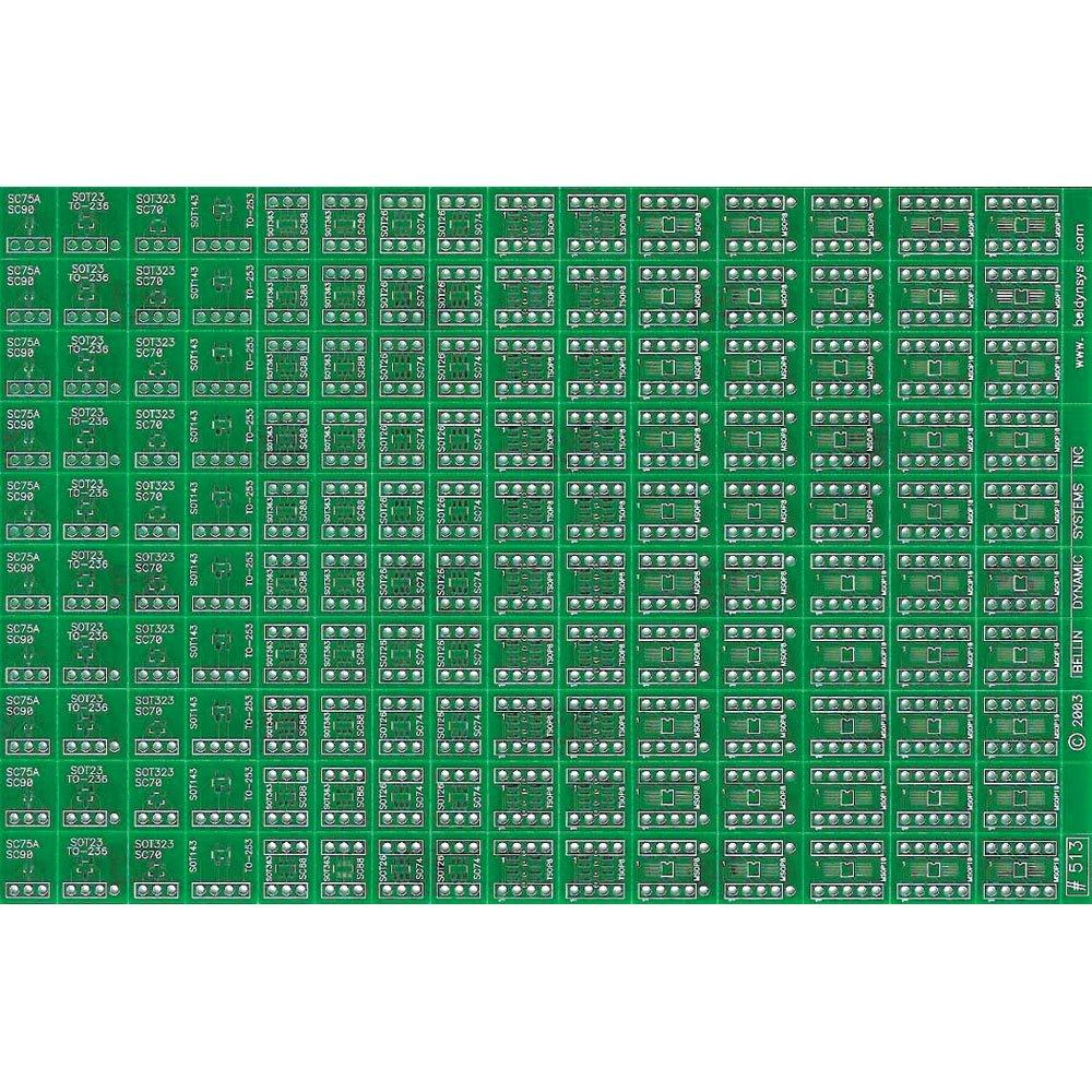 7.6 L x 5.0 W 7.6 L x 5.0 W SMD Small SMT Bellin Dynamic Systems B513-VP Breadboard
