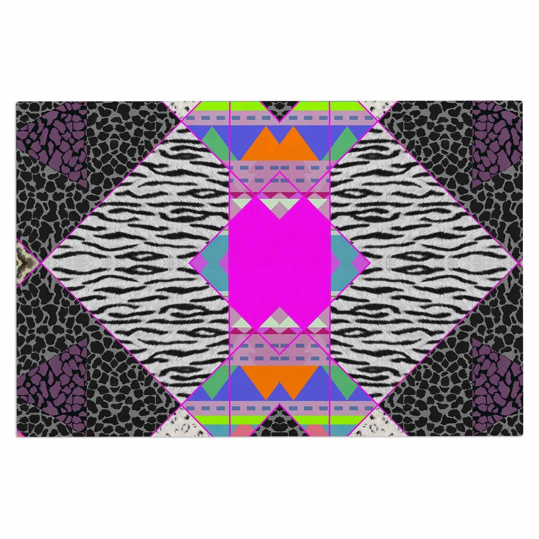 2 x 3 Floor Mat Kess InHouse Kess Original Just Be You Blue Pink Decorative Door