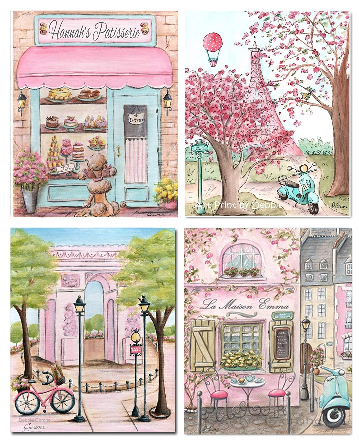 Amazon.com: Pink Paris Themed Bedroom Decor For Girls Room ...
