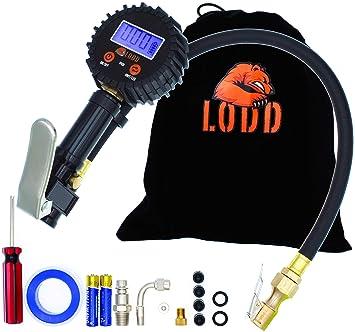 Manómetro de presión digital, Pistola para Inflado de Neumáticos, Manómetro de Presión de Neumáticos