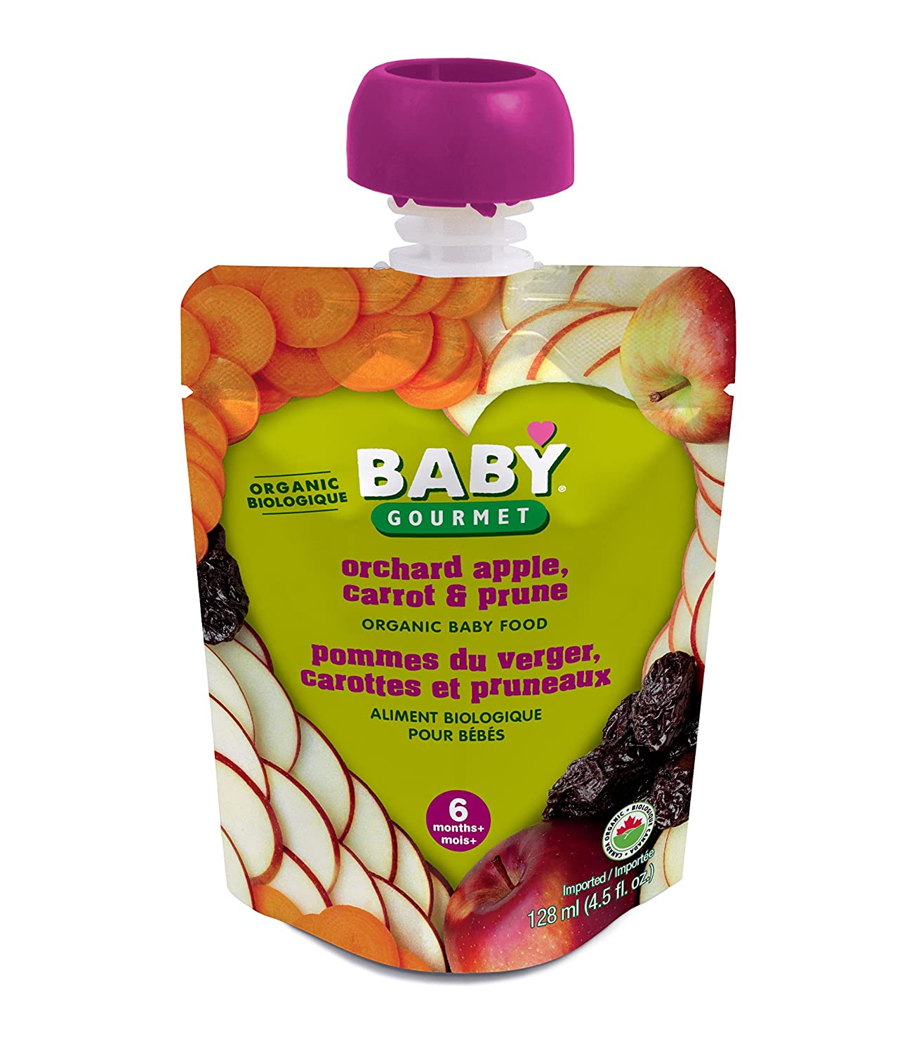 Baby Gourmet Orchard Apple Carrot and Prune, 12-Pack Baby Gourmet Foods Inc OACP4BGCSCD0012