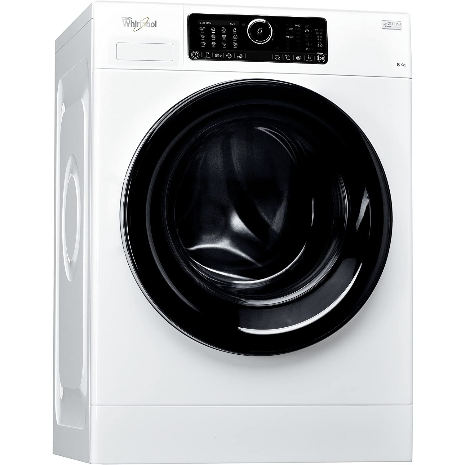 Whirlpool FSCR80430 Freestanding 8kg 1400RPM A+++ White Front-load ...