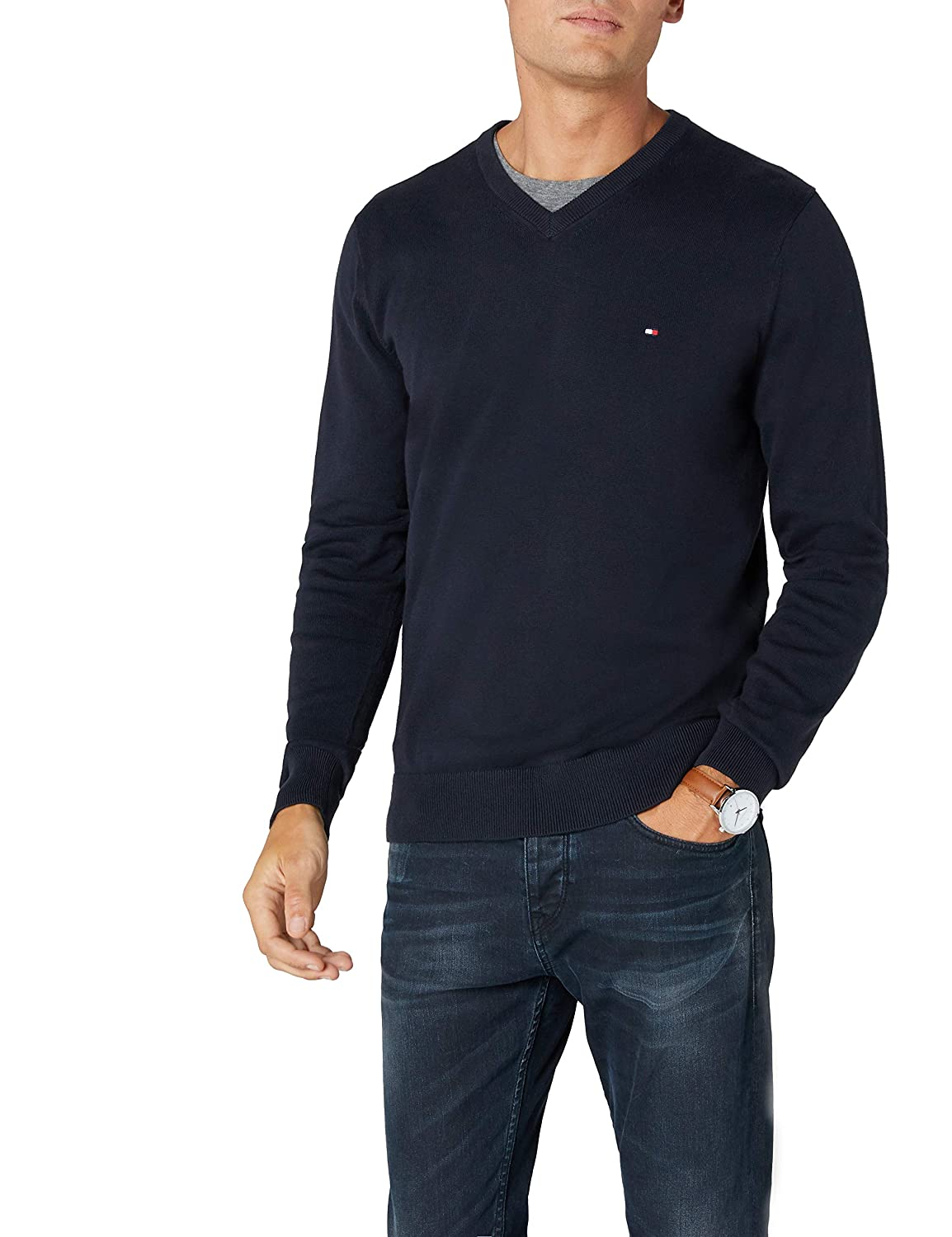 Tommy Hilfiger Pacific V-nk CF, Jersey para Hombre