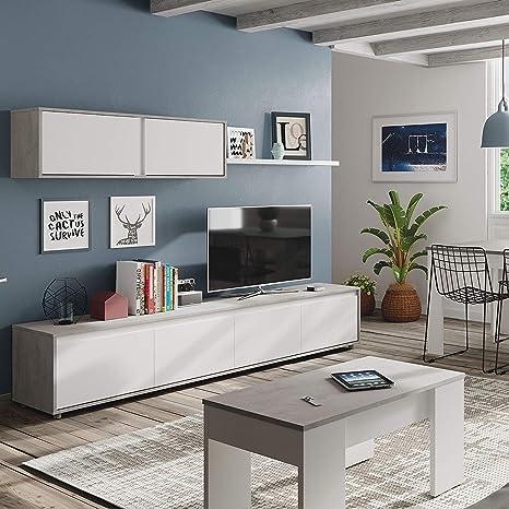Mueble de salón Moderno Modular, Medidas: 43 cm de Altura x ...