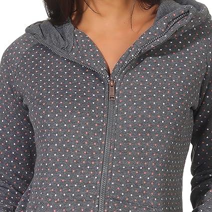 49931c73ea3aaa Hailys Damen Kapuzensweatjacke Pina Dots Gepunktet: Amazon.de: Bekleidung