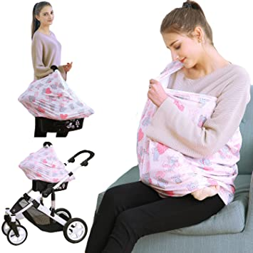 Amazon Com Baby Shower Gift Baby Car Seat Covers Nursing Covers
