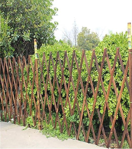 KKCFHUAJIA Fachada de Madera Maciza Fachada de jardín Piquete Paneles de cercado Bordes de césped Borde Valla Estirable: Amazon.es: Jardín