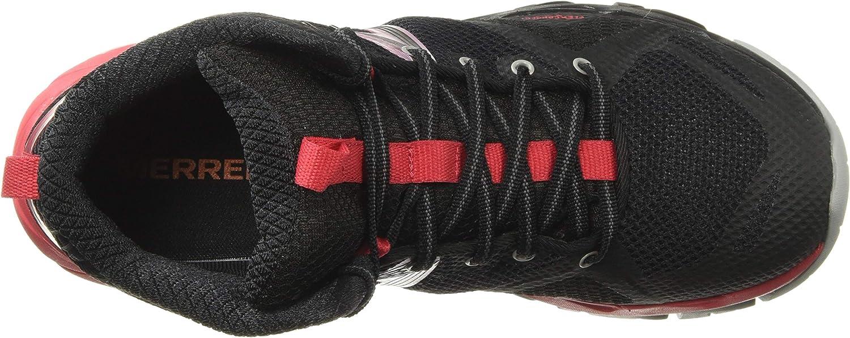 Merrell Mqm Flex Mid, Bottes de Loisir et de Sportwear pour Femmes Black Lollipop Multicolor
