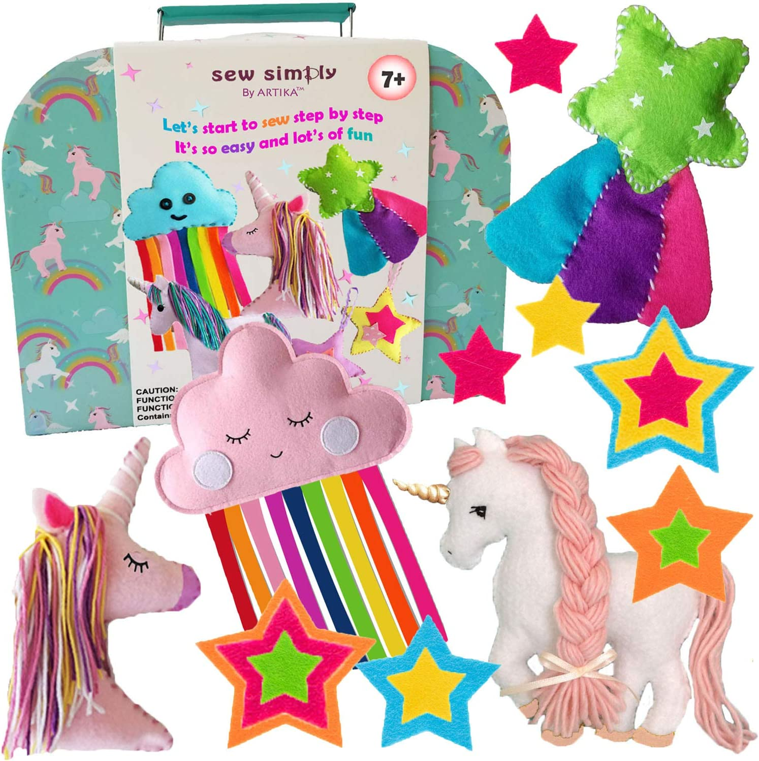 Habicraft EASY TO MAKE,childrens craft kit  sew your own  Pink LLama 16cm tall