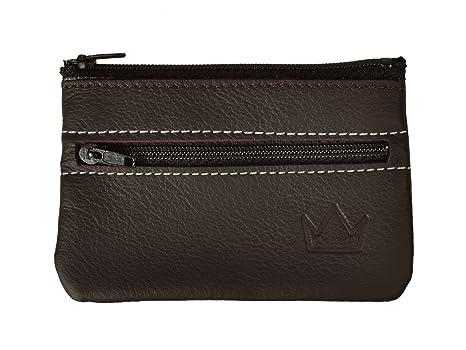 Lederprinz® | Clave Marrón 2 compartimentos | Estuche de llaves piel genuina | Made in Germany | Napa | bolso de la llave del cuero genuino de señora