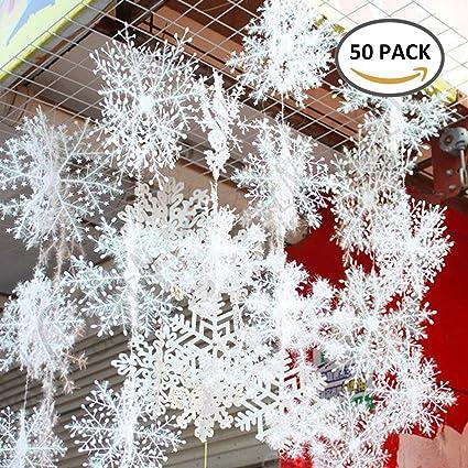 Amazon Com Newdanceus Christmas Snowflakes Hanging Party Decoration