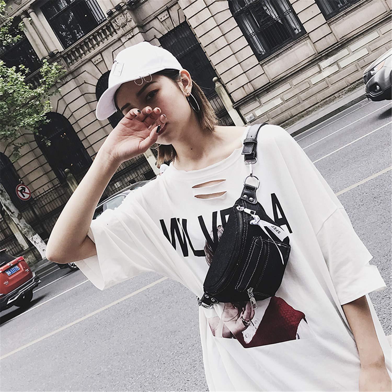 Missrooney 2018 Fashion Denim Waist Bag Female Fanny Packs LadyS Belt Bags Women Travel Chest Bag Hight Quality Black Light Blue