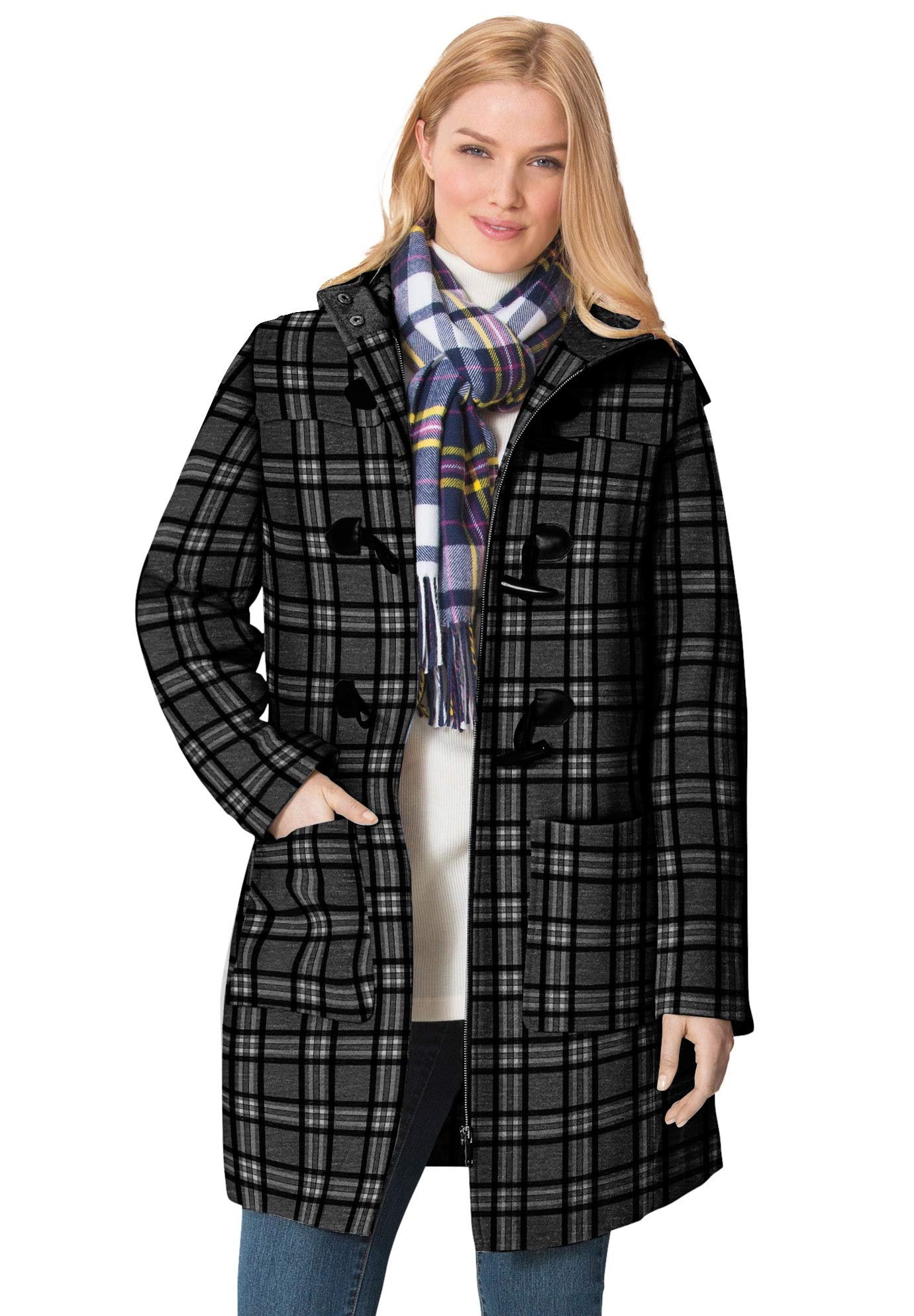Woman Within Women's Plus Size Classic Duffle Coat