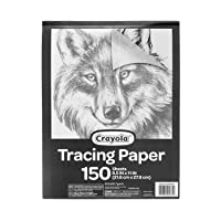 """Crayola Tracing Paper 8 1/2"""" X 11"""", Great for Light Up Tracing Pad, Gift, 150Count..."""