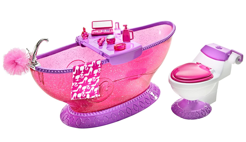 Amazon.com: Barbie Bath To Beauty Bathroom Set: Toys & Games