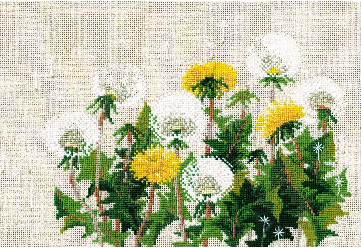 Riolis Wintertag Kreuzstichpackung Mehrfarbig 40 x 24 x 0,1 cm Baumwolle