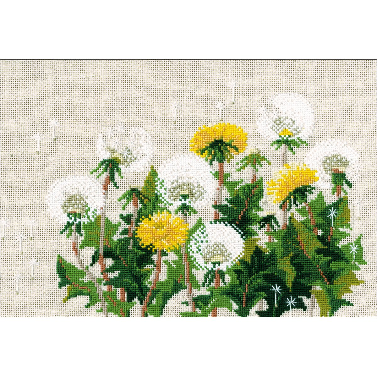 Dandelions Counted Cross Stitch Kit-11.75x8.25 15 Count RIOLIS R807