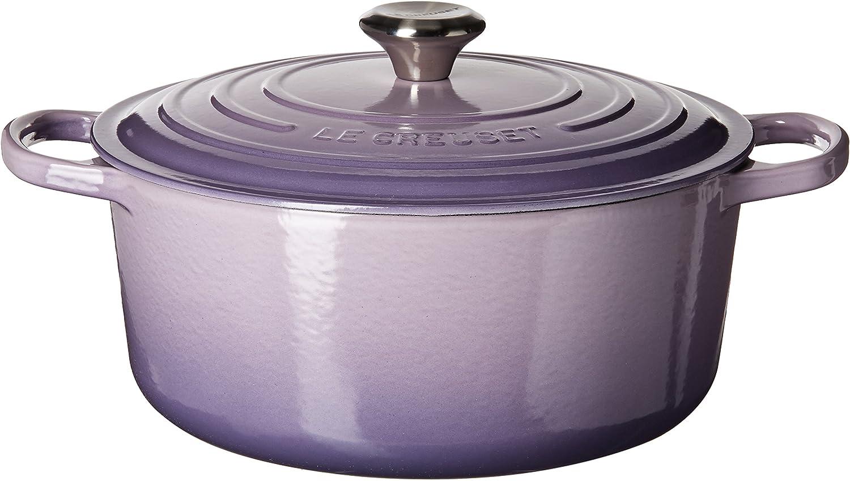 Le Creuset LS2501-28BPSS Round Cast-Iron Dutch Oven, 7-1/4 quart, Provence