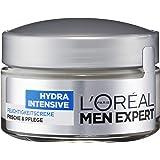 L 'Oréal Men Expert Hydra Intensieve vochtinbrengende crème, gezichtsverzorging voor gevoelige mannenhuid trekt snel en…