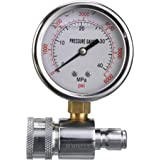 M MINGLE Pressure Washer Gauge Kit, 3/8 Inch Quick Connect, 6000 PSI