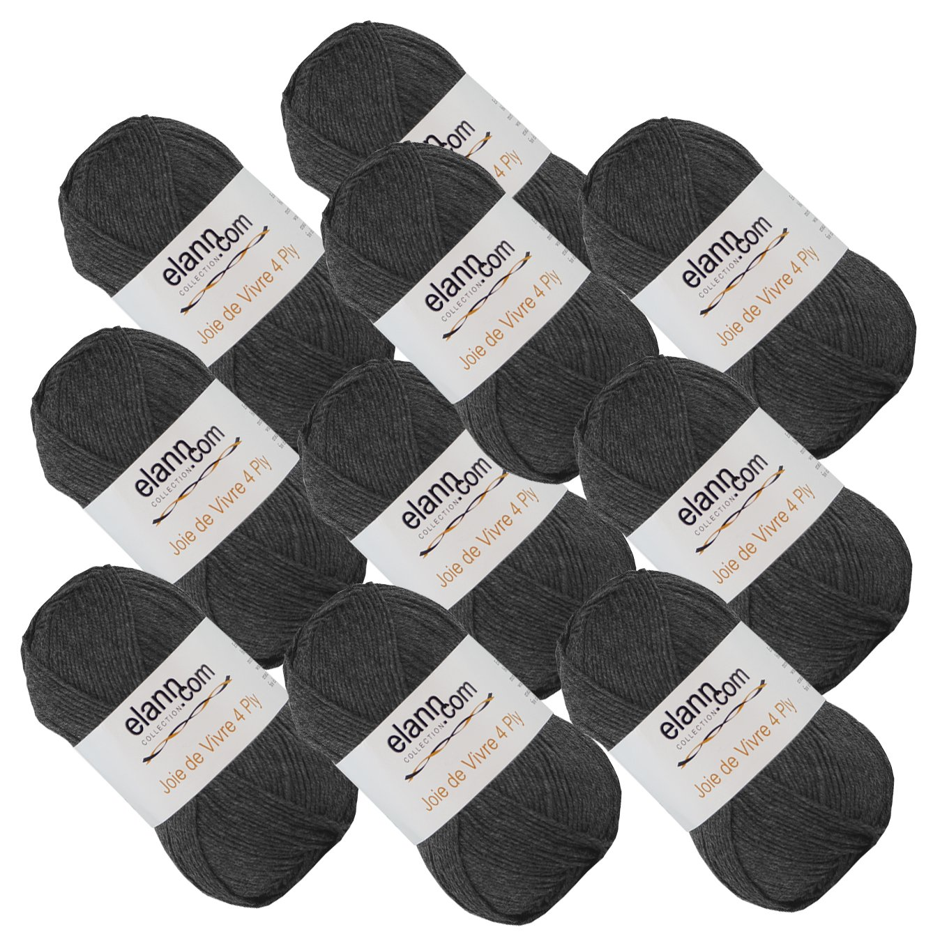 elann Joie de Vivre 4 Ply Yarn | 10 Ball Bag | 09 Smoked Pearl