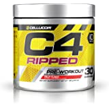 Cellucor C4 Ripped Pre Workout Powder + Fat Burner, Fat Burners for Men & Women,  Weight Loss & Energy, Fruit Punch, 30 Servings
