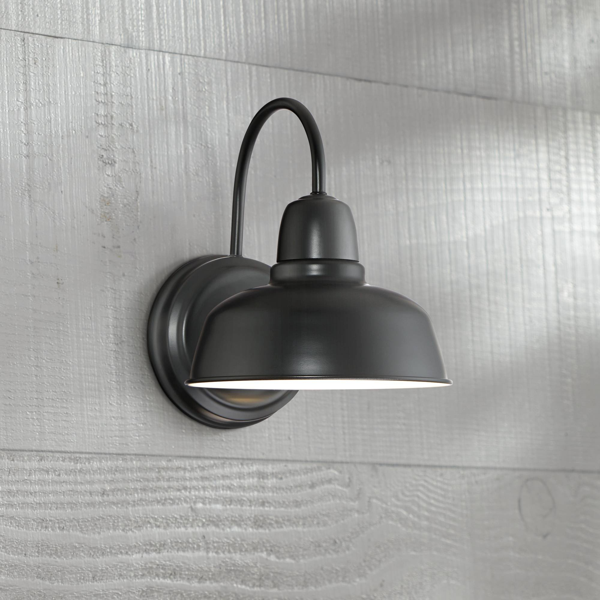 Urban Barn Rustic Outdoor Wall Light Fixture Farmhouse Black 11 1/4'' Sconce for Exterior House Deck Patio - John Timberland