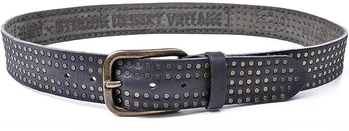 SDV ceinture en cuir pour homme avec rivets marron  Amazon.fr ... dd07ca5f39a