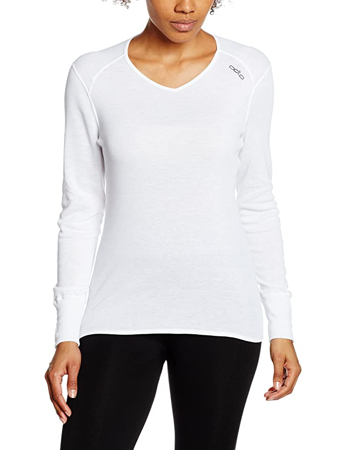 Odlo Damen Unterhemd Shirt Long Sleeve V-Neck warm: Amazon.de: Sport &  Freizeit