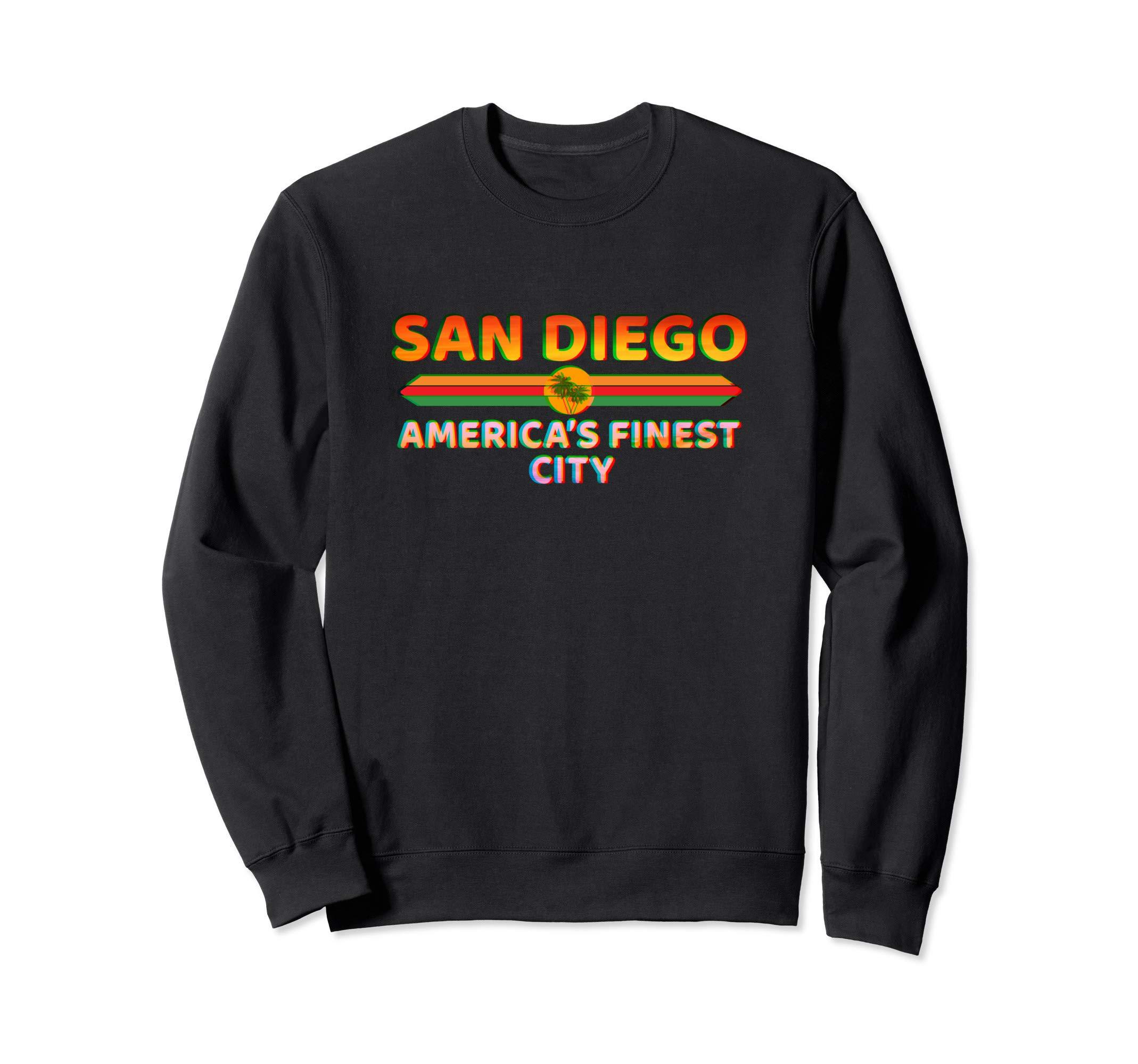 San Diego America's Finest City - California Retro San Diego Sweatshirt by La Ferte-Bernard