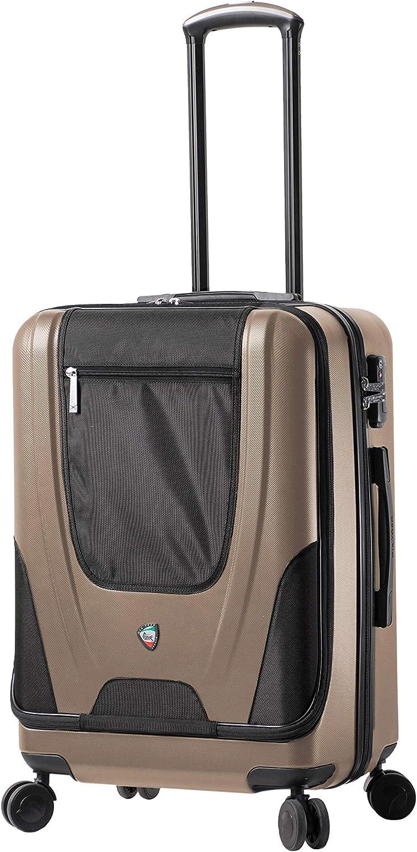 Mia Toro Ibeido Hardside 24 Inch Spinner Luggage Champagne