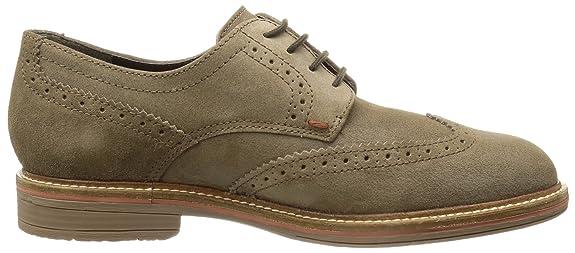 Mephisto - Zapatos de cordones de cuero para hombre, color negro, talla 40