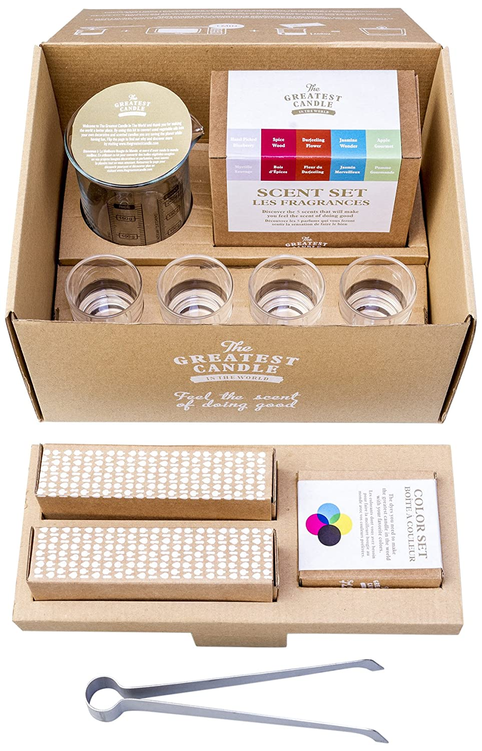 The Greatest Candle In The World DIY Welcome Kit de Bougies, Cire végétale, Blanc, 24x 20x 15cm O2W S.A. P0100035