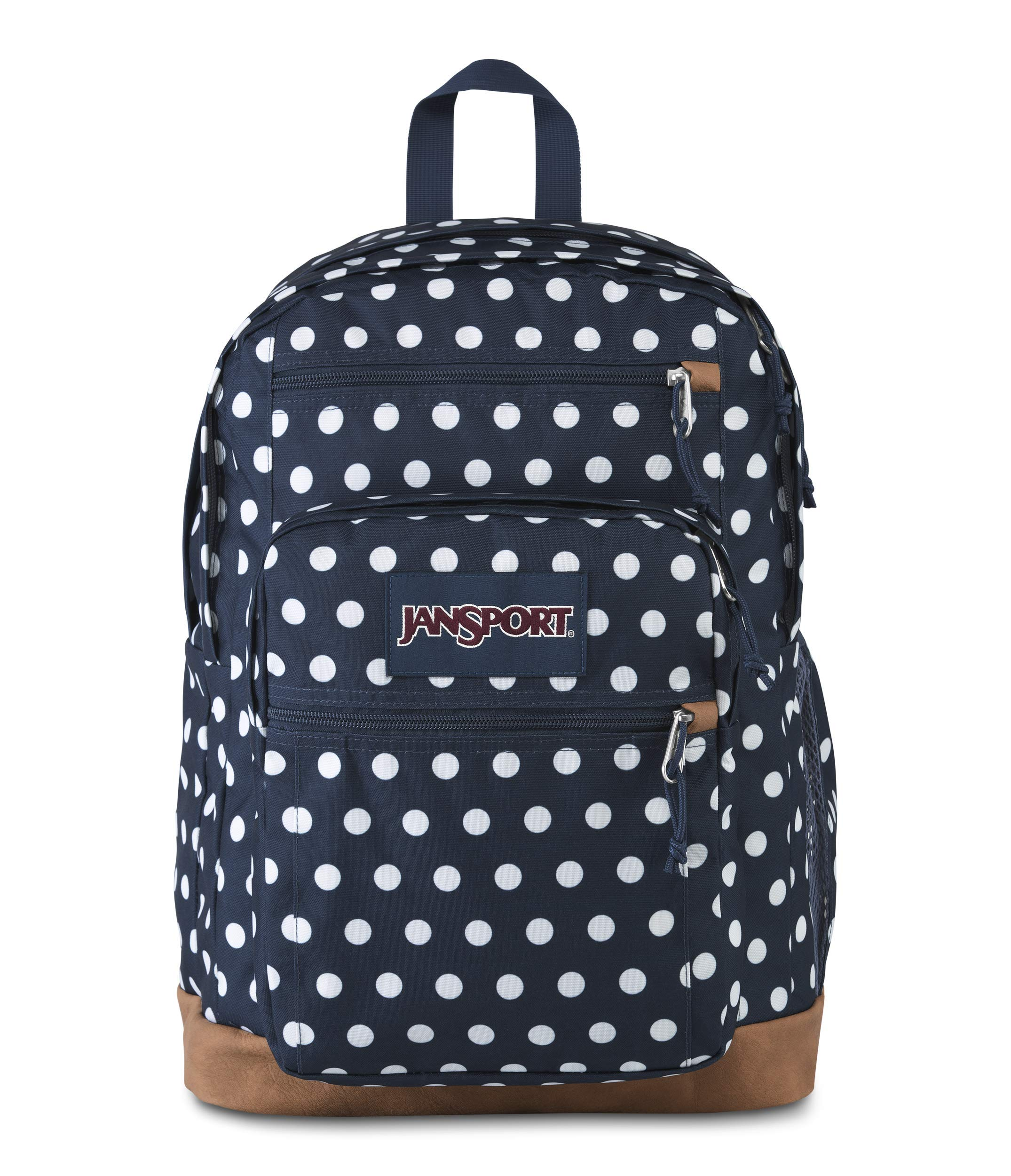 JanSport Cool Student 15-inch Laptop Backpack, Dark Denim Polka Dot by JanSport