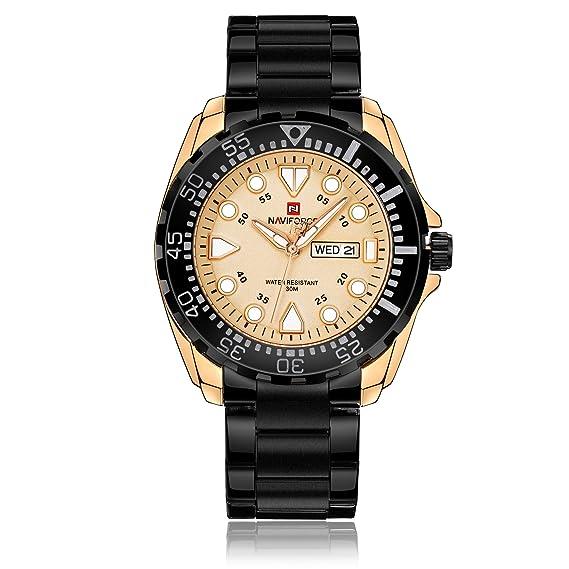 Naviforce reloj analógico cuarzo watch-men moda Vintage de lujo del cuarzo reloj de pulsera