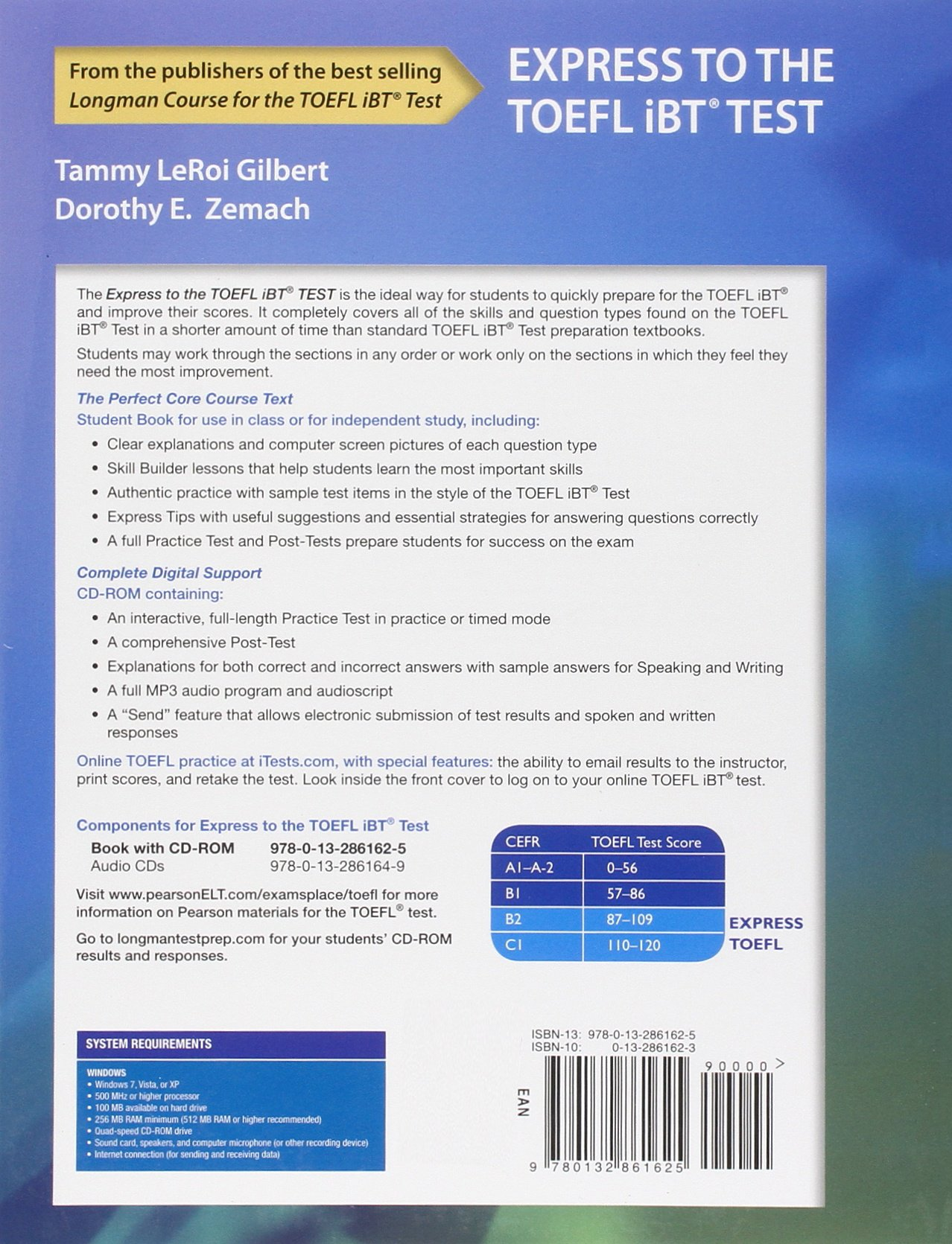 Express to the TOEFL iBT® Test with CD-ROM by Pearson Education ESL