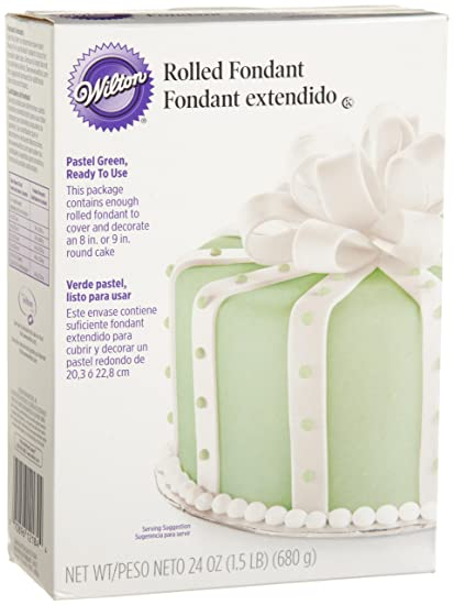 Wilton Rolled Fondant, Pastel Green 24 oz- Discontinued By Manufacturer