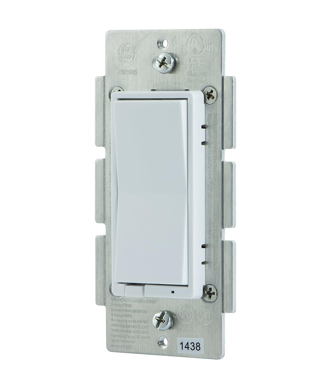 GE Z-Wave Wireless Smart Lighting Control Smart Dimmer, In-Wall ...