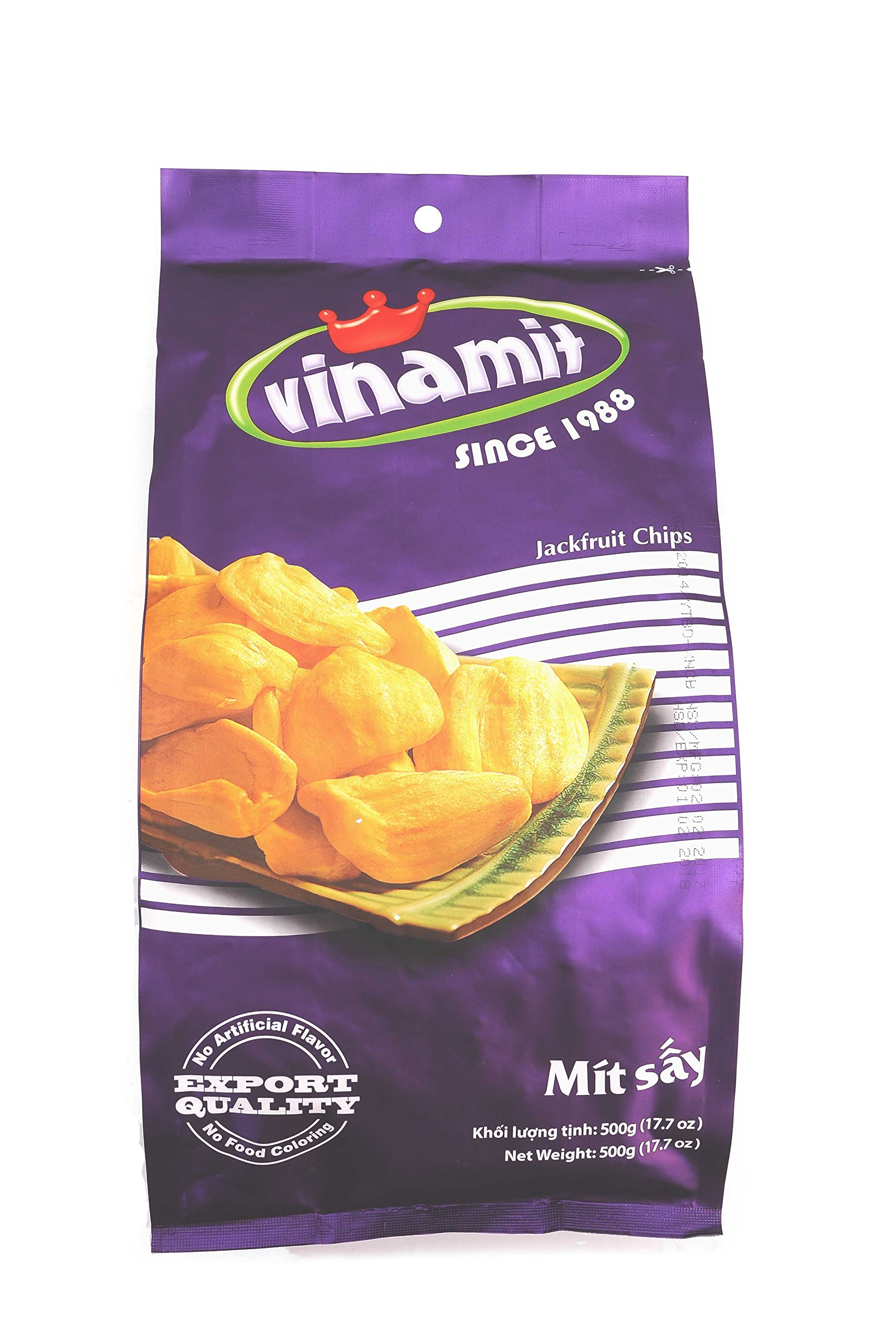 Vinamit Vietnam Jackfruit Chips - High Quality Food - 500 gram