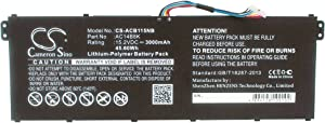 3000mAh Replacement for Acer Chromebook 15 CB5-571-C4T3, Chromebook 15 CB5-571-C506, Chromebook 15 CB5-571-C6DL, Chromebook C810 Battery, P/N AC011353, AC14B18K, AC14B18K(4ICP5/57/80)