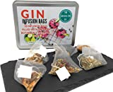 18 Gin and Tonic Infusion Bags - Pyramid Tea Bags to Transform Your Gin & Tonic, 6 Fantastic Flavours with Real Herbs, Spices, Dried Fruit, Fantastic Botanical Infusion Gift Set Present
