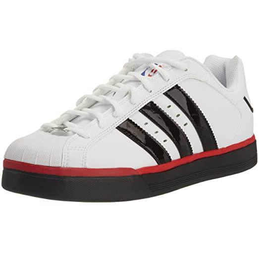 adidas Men\u0027s Superstar Vulcano NBA Colors Basketball Shoe,Running White/Black  1/Red