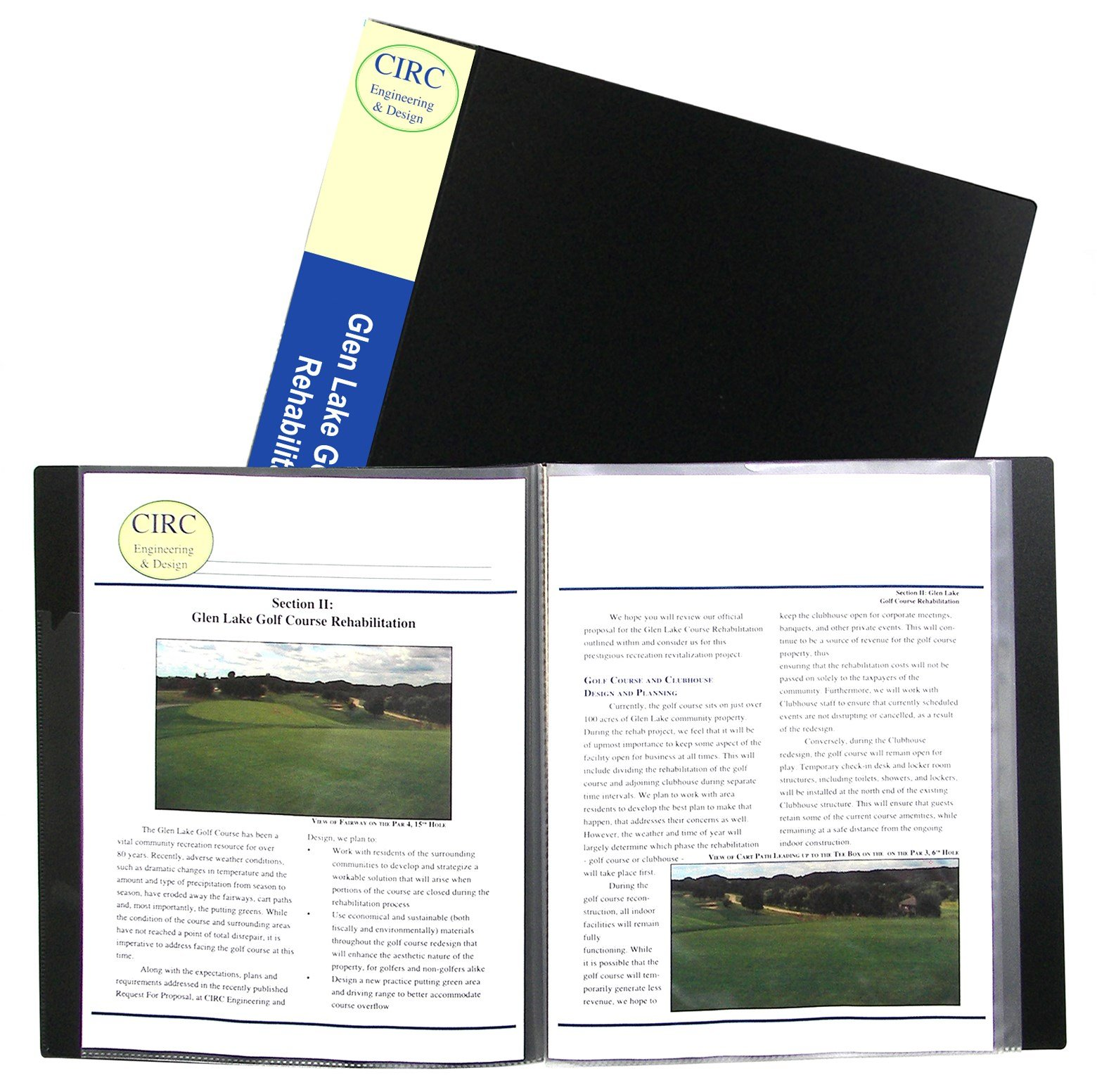C Line Products Inc 33120 Black Bound Sheet Protector Presentation Book