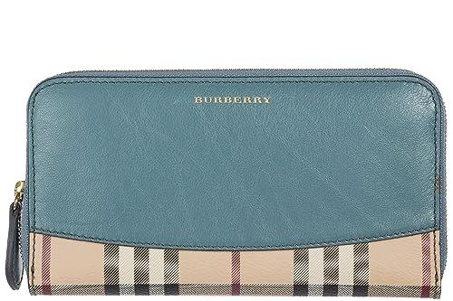Burberry monedero cartera bifold de mujer en piel nuevo blu ...