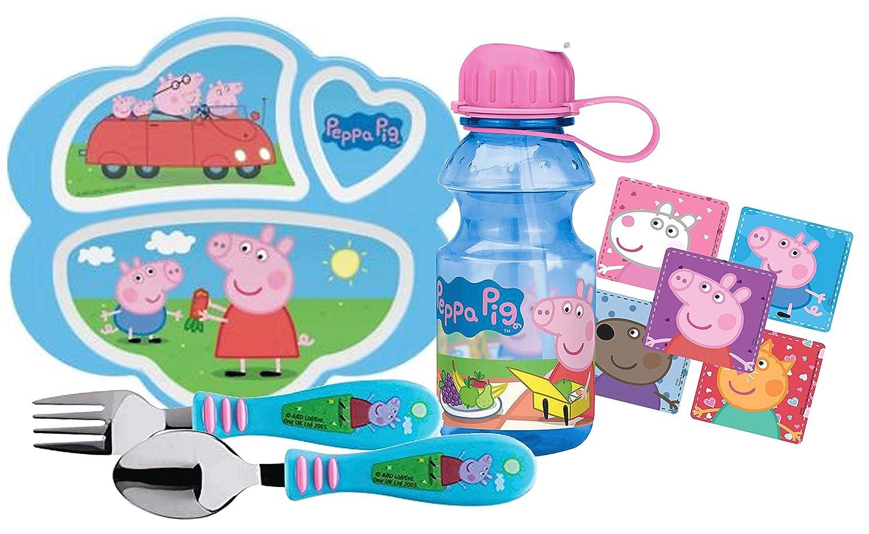 ●日本正規品● Peppa Pig B07HT6XTCD Pig 子供用 BPAフリー 4ピース 食事時間セット セクションプレート、ウォーターボトル、フォーク、スプーン付き BPAフリー B07HT6XTCD, 印章製造直販本舗 こだわり屋:b802eff0 --- a0267596.xsph.ru