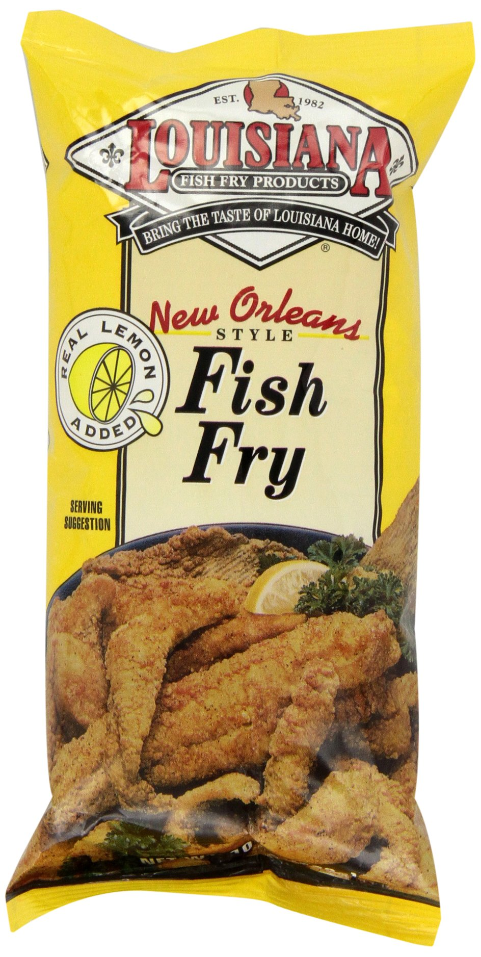 Louisiana Fish Fry Products Lemon Fish Fry Mix, 10 oz