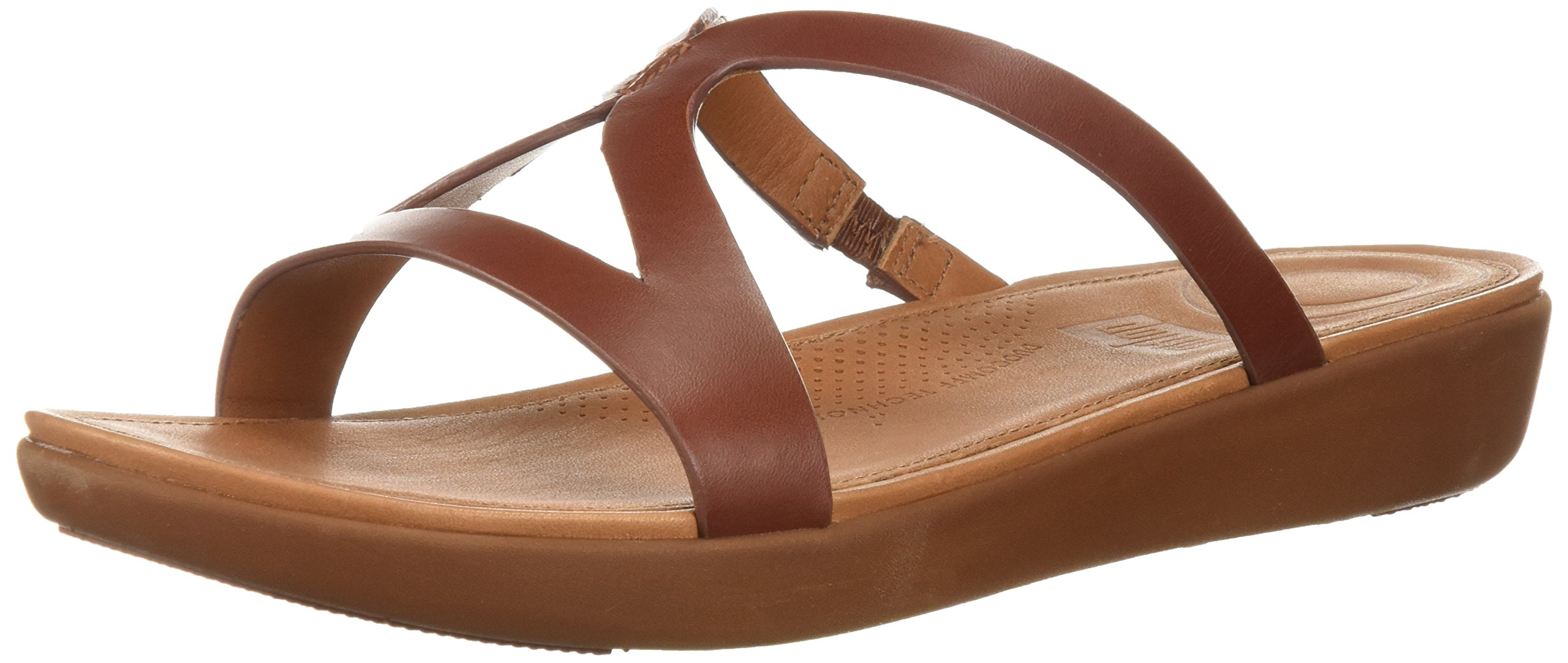 FitFlop Women's Strata Slide Sandal, Cognac, 7 M US